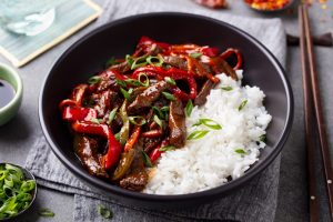 Easy Pepper Steak Stir Fry Recipe Made With Bison Sirloin - Beck & Bulow