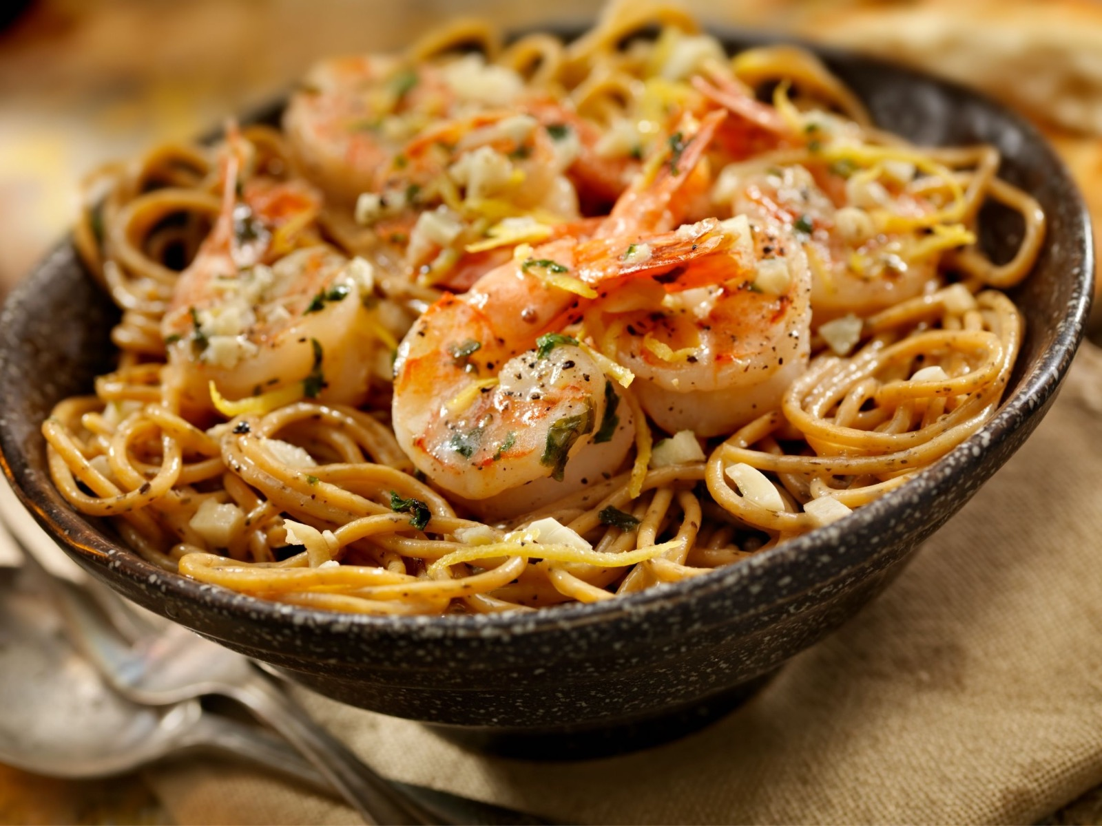 Wild Blue Mexican Shrimp Scampi With Asiago Cheese - Beck & Bulow