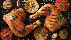 Paleo Skillet Dinner: Chicken Thighs With Charred Avocado - Beck & Bulow